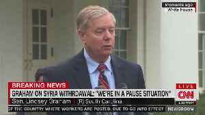 Lindsey Graham says there is a 'pause' on Syria withdrawal [Video]