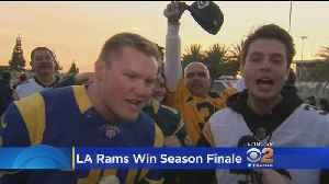 LA Rams Fans Celebrate Season Finale Win [Video]