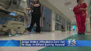 News video: Judge Orders Affordable Care Act To Stay In Effect During Appeal
