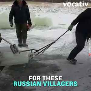Russians Living in the Coldest Region Use Chainsaws to Get Their Fresh Water [Video]