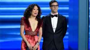 Andy Samberg And Sandra Oh Are Best Friends Who Just Met In 'Golden Globes' Promos [Video]