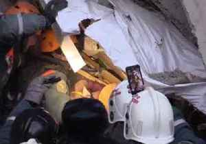 Russian Authorities Rescue Baby From Rubble of Collapsed Apartment Building [Video]