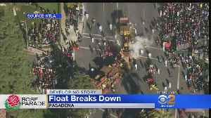 Rose Parade Float Breaks Down, Catches Fire [Video]