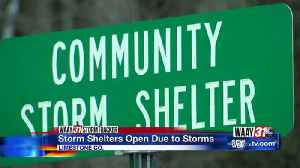 Storm Shelters Open [Video]