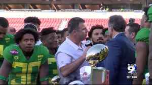 Oregon Ducks win bowl game against Michigan State [Video]