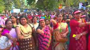 Women in India form 'human wall' for equal rights [Video]