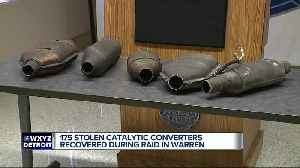 Investigation leads to recovery of more than 175 stolen catalytic converters from Detroit home [Video]