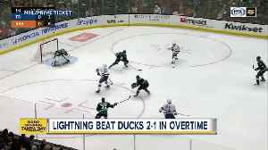 Tampa Bay Lightning finish December unbeaten with 2-1 overtime win at Anaheim [Video]