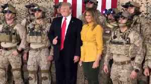 When The Trumps Visit the Troops It's Like A Fun Rally [Video]