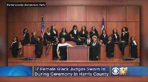 Texas County Makes History After Swearing In 17 Black Female Judges [Video]