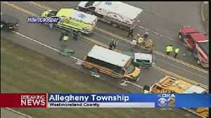 1 Person Injured When Vehicle Collides With School Bus In Allegheny Twp. [Video]