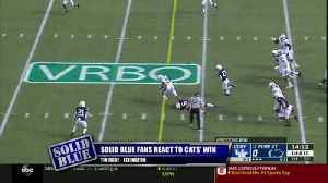 Solid Blue fans react to Cats' Win [Video]