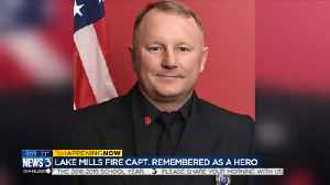'He is forever our angel:' Family thanks Lake Mills fire captain who died helping their daughter [Video]
