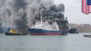 Cargo ship mysteriously catches on fire on its way to Hawaii [Video]
