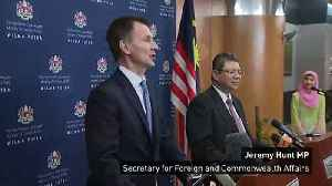 Hunt talks foreign policies with Malaysian Foreign Minister [Video]