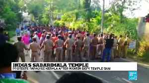 India Sabarimala Temple: Protesters paralyse Kerala after women defy ban, at least one dead and 100 injured [Video]