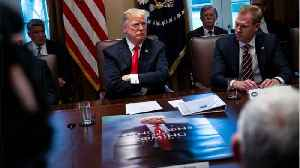 Trump Displays Knock-Off 'Game of Thrones' Poster At Cabinet Meeting [Video]