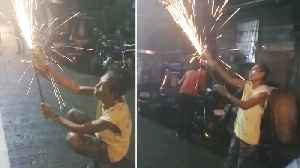 Pensioner Makes His Own 'Low Budget' New Year Fireworks [Video]