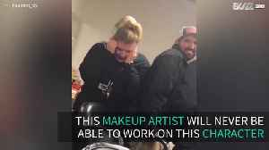 Haunted attraction makeup artist is afraid of clowns [Video]