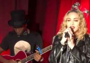 Madonna Gives Surprise New Year's Eve Performance at Iconic Gay Bar [Video]