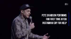 After Personal Crisis Pete Davidson Is Back On Stage [Video]
