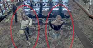 News video: Las Vegas police looking for 2 women connected to a violent robbery