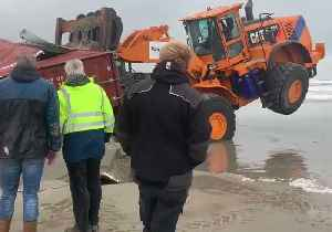 Lost Cargo Containers Wash Up on Dutch Islands [Video]