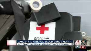American Red Cross urging people to add giving blood to New Year's resolutions [Video]