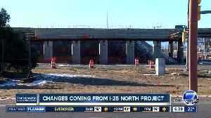 Part of frontage road being closed at I-25 & Highway 402 [Video]