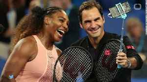 News video: Serena Williams Plays Federer For 1st Time, Says He Has 'Underestimated' Skill
