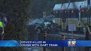 1 Person Dead After Car Crashes Into DART Rail Train [Video]