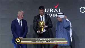 Ronaldo takes Globe Soccer player of the year award [Video]