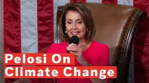 Pelosi Sends Strong Message About Climate Change While Elected House Speaker [Video]