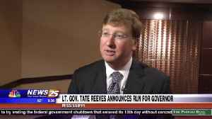 Lt. Gov. Tate Reeves announces run for governor [Video]