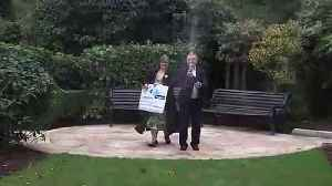 Lucky couple reveal plans for £115 million win [Video]