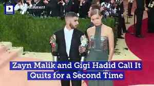 Zayn Malik, Gigi Hadid Call It Quits for a Second Time [Video]