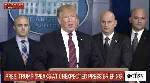 Trump Visits WH Press Briefing Room To Speak On Border Security, Wall [Video]