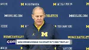 Wolverines riding 13-0 start into Big Ten play [Video]