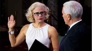 Kyrsten Sinema, the first openly bisexual U.S. senator, got sworn in by infamous homophobe Mike Pence [Video]