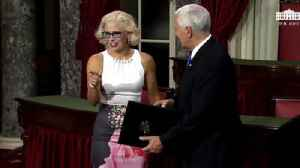 Kyrsten Sinema sworn in by Mike Pence [Video]
