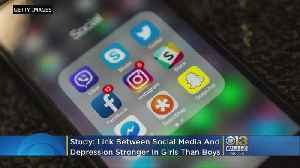 Link Between Social Media, Depression Stronger In Teen Girls Than Boys, Study Says [Video]