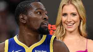 Kevin Durant Shoots His Shot At FS1 Host Kristine Leahy! [Video]