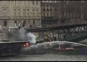 Barge Fire Extinguished As Protests Rage in Paris [Video]