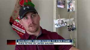 United Airlines denies aisle chair to local coach, who is paralyzed [Video]