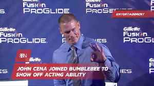 News video: John Cena Joins 'Bumblebee' For A Special Reason