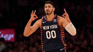 Enes Kanter on Knicks' Trip to London: 'I Can Get Killed Very Easy' [Video]