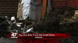 UPDATE - Man hurt after crashing truck into credit union [Video]