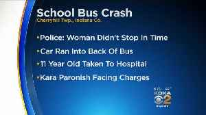 Student, 19-Year-Old Driver Injured After Car Crashes Into School Bus [Video]