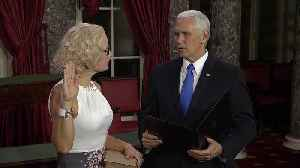 Mike Pence Swears in Kyrsten Sinema, First Openly Bisexual Senator, on Constitution [Video]