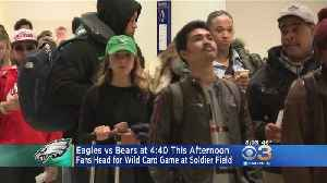 Eagles Fans Head For Wild Card Game At Soldier Field In Chicago [Video]